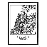 Nacnic Drucken Stadtplan Tel Aviv skandinavischen Stil in