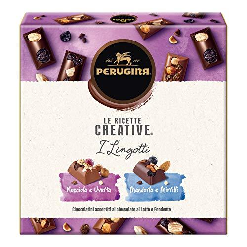Perugina Le Ricette Creative i Lingotti Cioccolatini Assortiti al Latte Finissimo e Fondente Extra Scatola - 203 g