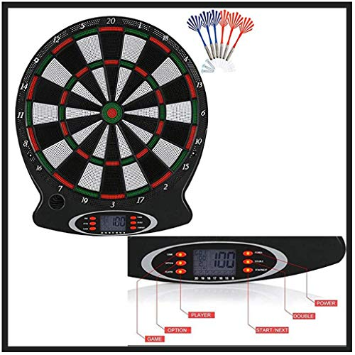 Electronic Dart Target with 6 Professional Safety Darts - Dartboard with Score-board for Commercial or Home Game Room Use - Easy To Use Button Interface - Fun Game Toy Thrower Play (Multicolor)
