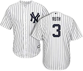 Babe Ruth New York Yankees MLB Boys Youth 8-20 Player Jersey  White Home Youth Large 14-16