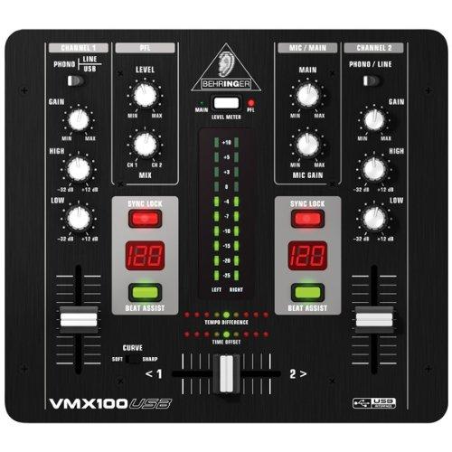 Behringer VMX100USB 2-kanaals DJ-mixer
