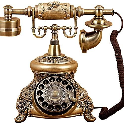 YUTRD Teléfono-rotación De Teléfono Antiguo Clásico Pastoral Teléfono Retro Teléfono Fijo Teléfono Fijo En Casa La Época De Pluma