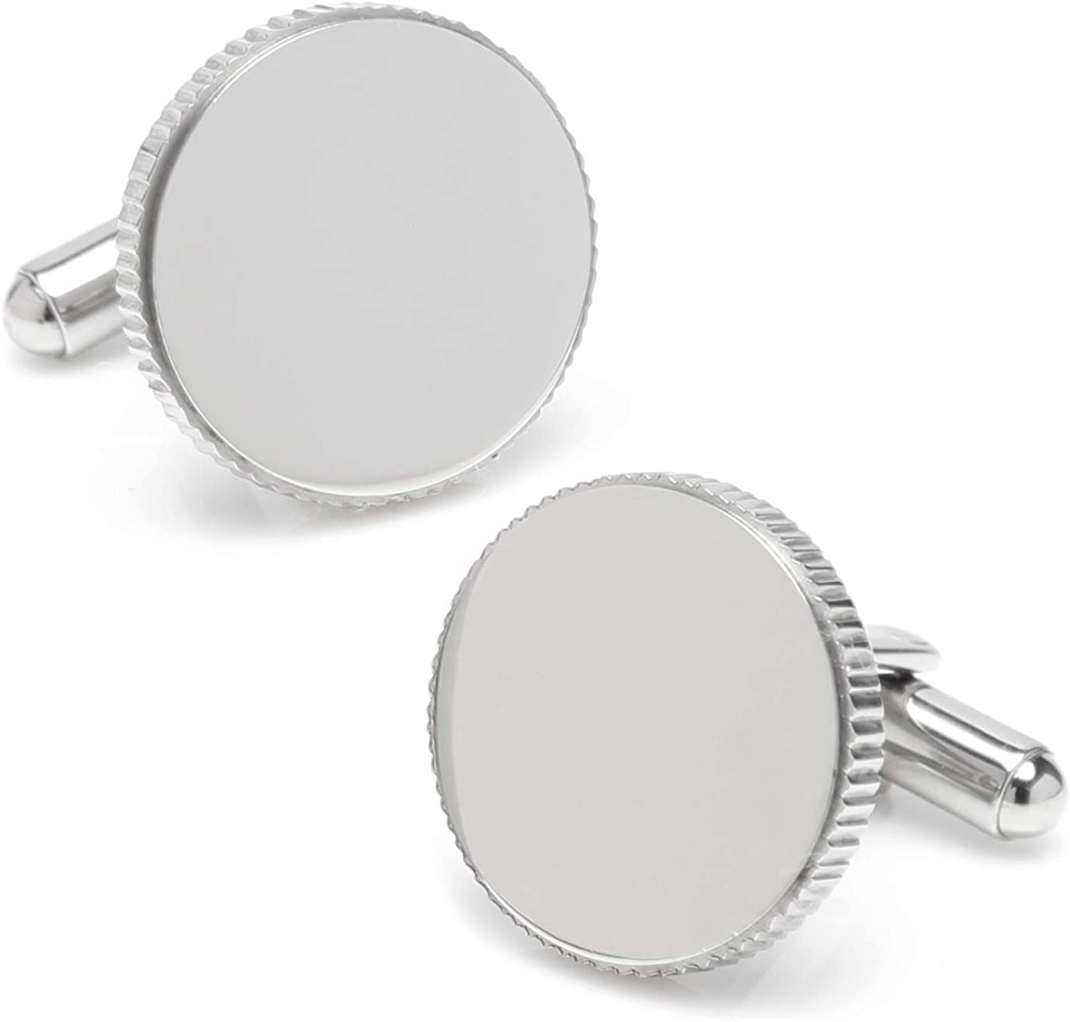 Ox and Bull Trading Co Coin Edge Stainless Steel Cufflinks