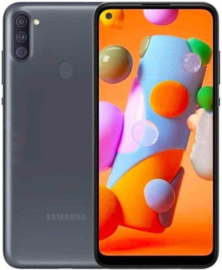 "Samsung Galaxy A11 (32GB, 2GB) 6.4"" Dual SIM GSM Unlocked, Global 4G LTE International Model (T-Mobile,AT&T,Metro,Cricket) A115M/DS (64GB SD Bundle, Black)"