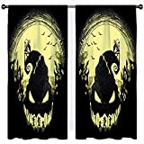 SSKJTC The Nightmare Before Christmas Creative Ghost Jack - Cortinas aisladas térmicas sólidas para habitación de niños (106 x 137 cm)