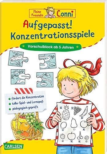 Conni Gelbe Reihe (Beschäftigungsbuch): Aufgepasst! Konzentrationsspiele: Vorschulblock ab 5 Jahren