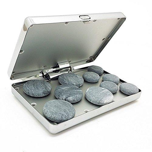 Royal Massage Chrome Case Hot Stone Heater w/10 Hot Rocks