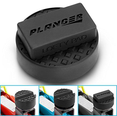 PLANGER ® - Wagenheber Gummiauflage FLACH (für BMW, Mini, Mercedes-Benz & Opel) auf Rangierwagenheber - Schützt PKW und SUV durch Form und Gummi