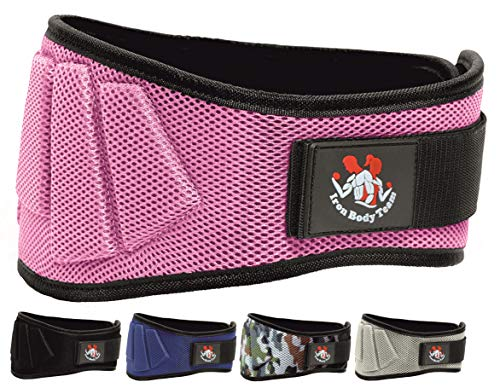 Adjustable Weight lifting Belt | Thick Lower Back & Core Support For Men & Women | Workout Belt Essential For Weightlifting, Powerlifting, Olympic Lifting, Deadlifts & Squats | Gym Pink M