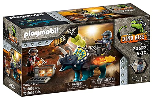 PLAYMOBIL Dino Rise 70627 Triceraptos: Batalla