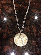 Dominican Republic 25 centavos coin necklace type 2