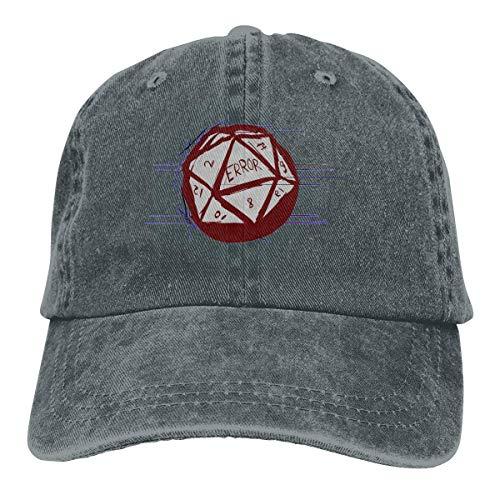 Voxpkrs Trucker Cap D20 Dice Roll Error Durable Baseball Cap Hats Adjustable Dad Hat Black Comfortable22991