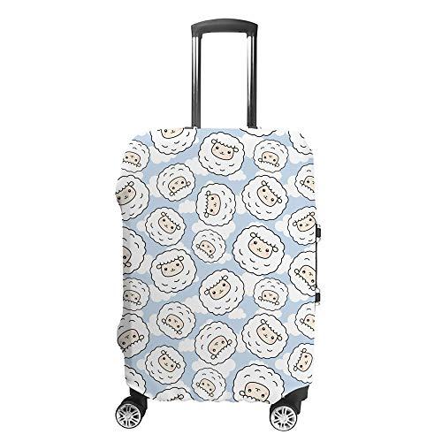 Chehong - Custodia per valigia, motivo pecora, colore blu, protezione lavabile, in fibra di poliestere elastica, antipolvere, adatta a 40-70 cm