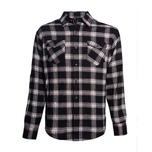 WEST COAST CHOPPERS - WCC Cisco Flannel Camisa - Negro/Rojo Blanco, negro,...