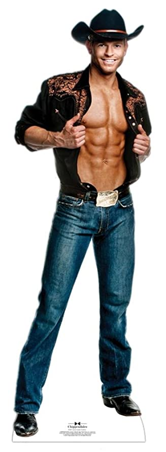 Chippendale Jaymes Vaughn - Cowboy Lifesize Standup Cardboard Cutouts 25 x 75in