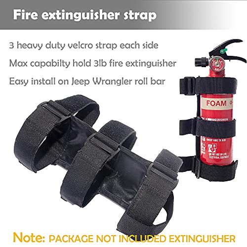 Fire Extinguisher Holder Fire Extinguisher Mount Fire Extinguisher Mounting Bracket Roll Cage Fire Extinguisher Mount Fire Extinguisher Kit Compatible with Jeep Wrangler CJ YJ LJ TJ JK JKU JL