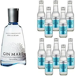 Gin Mare 1 x 0.7 l mit Fever Tree Tonic Water Mediterranean 10 x 0.2 l