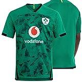 ZYQDRZ 2020 Maillot de rugby irlandais pour la saison et la maison, maillot de rugby, sport respirant et décontracté - Polo de football - Vert, XL
