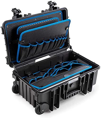 B&W International Jumbo 6600 - Maletín de herramientas para exteriores con herramientas de bolsillo, color negro
