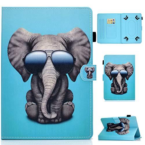 RLTech Hülle für Archos Core 80 WiFi, Ultra Schlank Schutzhülle Etui mit Standfunktion Smart Hülle Cover für 8 Zoll Tablets Einschließlich Archos Core 80 WiFi, Elefant