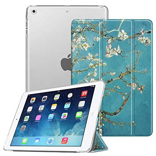 Fintie Hülle für iPad Air 2 (2014 Modell) / iPad Air (2013 Modell) - Superdünne Superleicht Schutzhülle mit Transparenter Rückseite Abdeckung mit Auto Schlaf/Wach Funktion, Mandelblüten