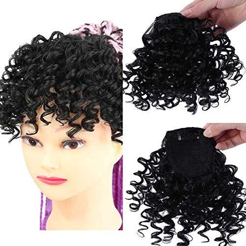 DIFEI Creative 2020 Afro Kinky Curly Hair Bangs Can Be Hair Closure Bangs in Hair Extension for Black Women (Bangs)