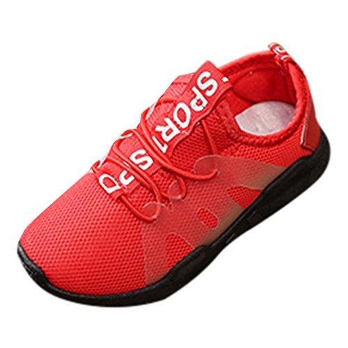 Zapatos para niños para niñas Niños, Zapatos para bebés Niños Niños Niños Niñas Carta Deporte Estilo de running Zapatillas de malla Casual Rojo 3.5-4 años, Zapatos de agua para bebés Grandes ventas