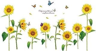 Pulabo Sunshine Girasol Mariposa Danza en el Verano Hermosas Pegatinas de Pared Extraíbles DIY Niños Roo DIY Herramientas ...