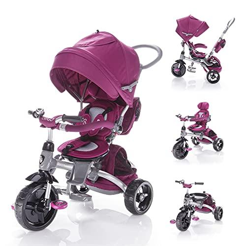 Zopa Triciclo Modello CITIGO Passeggino per Bambini (Mulberry Pink)
