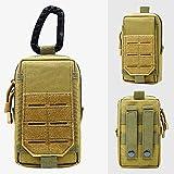 Ragelion Tactical Molle EDC Pouches 600D Smartphone Holder Waist Pack Multipurpose Tool Pocket Compact Mini Utility Pouches Gadget Belt Waist Bag (Khaki)