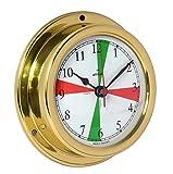 Delite Altitude 858caz - Reloj de barco (latón pulido, 125 x 40 mm)