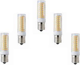 LED Lamp 5-Pack,Dimmable E17 Socket 5W Lamp Bulb 102LED 2835SMD Light Warm White/Cool White 400-450LM AC 100V-130V Green P...