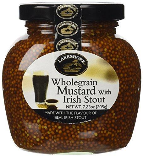 Lakeshore Wholegrain Mustard with Irish Stout, 7.23 Ounce