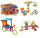 Toys & Games -MAKE VARIOUS DESIGNS: This Is A Creative toy for your child to Build Different Type of Designs like a Chair, Cycle, House, and more. These stick toys help to build creativity in your child. EASILY SNAP TOGETHER: The Pieces of these stic...