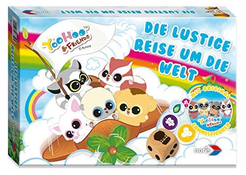 noris 606017350 YooHoo and Friends-Die lustige Reise um die Welt, Brettspiel