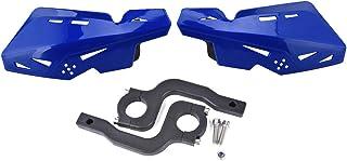 "PRO CAKEN Motorcycle Handle Bar Hand Guards Plastic Protector Dirt Bike Motocross ATV 22mm 7/8"" (Blue)"