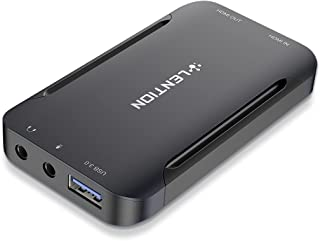 LENTION キャプチャーボード 4K60HZ HDMI×2 USB3.0 1080P HDCP対応 3.5mmオーディオ パススルー HD キャプチャーボックス ゲーム録画/ビデオ録画/ライブ配信/医用撮像/生放送用 Switch/PS5/...