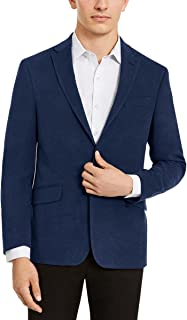 Blazer ブレザー ファッション フォーマル Andrew Fezza Mens Classic-Fit Check Two Button Blazer Jacket Blue 38 Regular