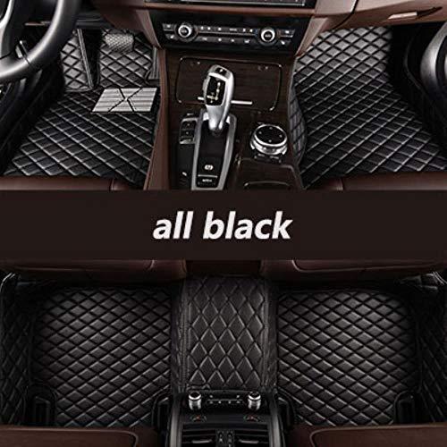 QIONGS Custom Car Fußmatten,für Porsche Alle Modelle Cayman Macan Cayenne Panamera Boxster 718 Auto Styling Autozubehör, alle schwarz