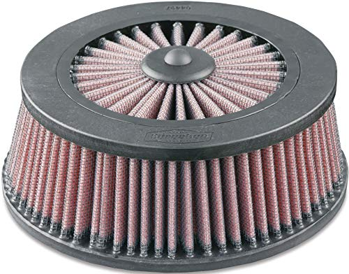 Kuryakyn 9469 Motorcycle Air Cleaner/Filter Component: Replacement K&N Filter for Mach 2, Street Sleeper II, Street Sleeper III, Crusher Maverick, Alley Cat & Skull Air Cleaners , Black