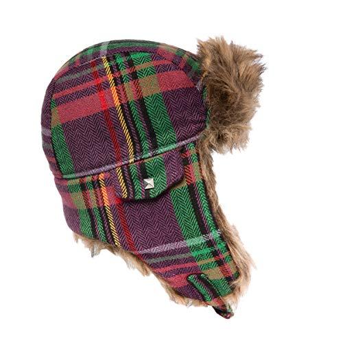 Generic Capelli New York Wintermütze für Damen, Kunstfell, mit Ohrenklappen