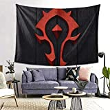 Wow Horde Tapestries Wall Hanging Dorm Decor for Living Room Bedroom One Size