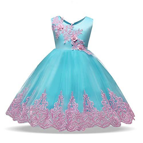 Meisje Bruiloft Bloem Meisje Jurk Baby meisje mouwloos geborduurd kant verjaardag trouwfeest jurk peuter prinses bloem jurk tule doop schoonheid jurk jurk Klein Meisje Prinses Bruid