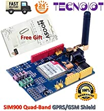 TECNOIOT SIM900 GPRS/gsm Shield Development Board Quad-Band Module with Antenna + Gift