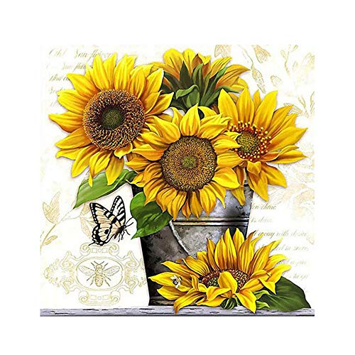 thanksky Sunflower Fall Diamond Painting Kits for Adults, Paint Gem Art Kit, Full Drill Gem Art Crafts for Women Rhinestone Embroidery Arts Craft Home Decor (style8)
