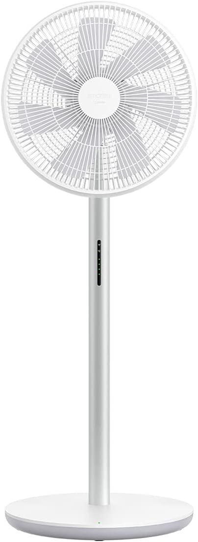 SMART MI Standing Fan 3- Ventilador ionizador inteligente con batería (29dB, batería Li-Ion para 16 horas de autonomía, 100 velocidades, 4 grados de oscilación, mando a distancia y control por app)