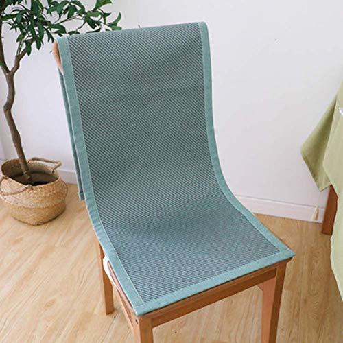 XHNXHN Cojines para silla de verano, transpirables, para decoración del hogar, cojín de asiento de oficina siamés, cojín para silla de comedor, color azul lago, 45 x 135 cm