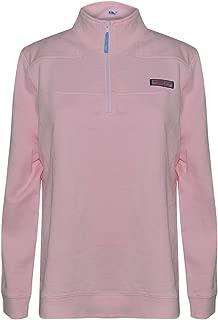 Vineyard Vines Women's Shep Shirt 1/4 Zip Pullover (Small, Flamingo/Solid)