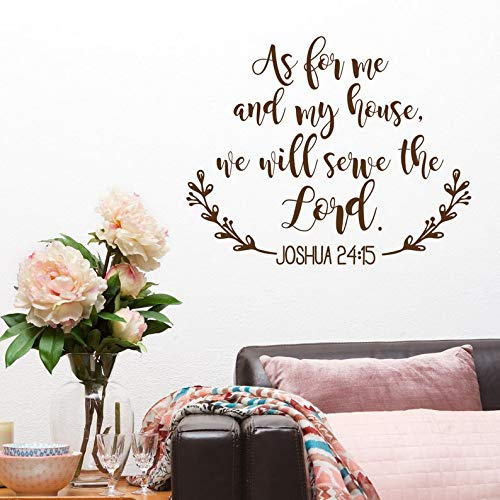 jtxqe Bibelverse Christen Wir Werden Dem Herrn Dienen Bibelverse Wandtattoo Spruch PVC Wandaufkleber Kunstaufkleber Für Wanddekoration 34X42Cm