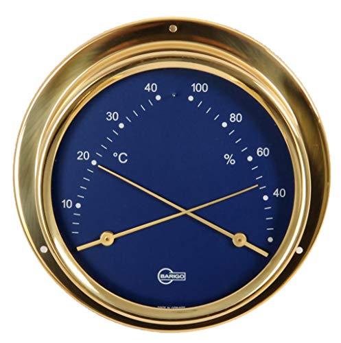 Barigo Kabinenausstattung Thermometer Hygrometer Messing Skala Blau